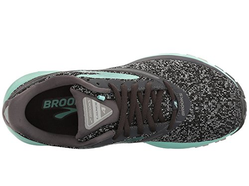Brooks Women's Launch 4 Anthracite/Beach Glass/Silver 9 B US