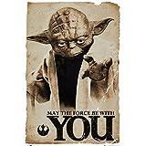 Star Wars Yoda May The Force Movie Poster Print, 24x36