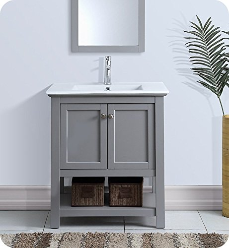 Fresca Manchester 30'' Gray Traditional Bathroom Vanity