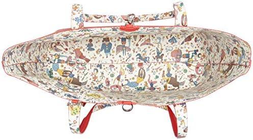 PIERO GUIDI Tote Bag + Busta, Cabas femme, Rouge (Rosso), 34,5x29,5x14 cm (W x H L)