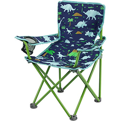 Blue Green Folding Chair Dinosaurs