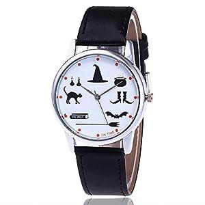 Nextstart Fashion Witch Essentials Watch Casual Halloween Women Wrist Watches Leather Quartz Watches