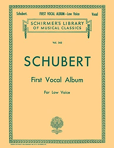 First Vocal Album Low Voice Piano German English