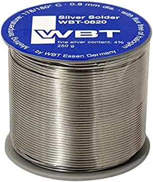 Wbt 0820 Silberlot Inhalt 1 Rolle á 250 G D 0 8 Mm Elektronik