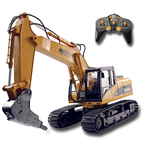 Fistone RC Truck Alloy Disassemble Excavator 2.4G Remote Control Broken Construction Vehicle Simulate Wireless Crawler Tractor Electronic Hobby Games Toy with Sound and Flashing Light