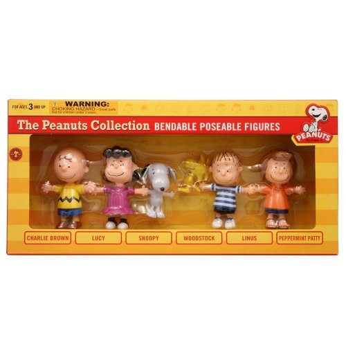 Charlie Brown and The Peanuts Bendable Figures Set