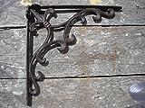 Unique Home Decorative Cast Iron Metal Ornate Scroll Pattern Shelf Bracket,10 x 10 inch Set of 2, by Southern Charm Market