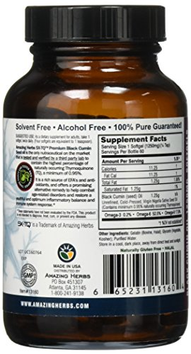 Amazing Herbs Premium Black Seed Oil Soft-Gels, 60 Count by Amazing Herbs (Image #3)