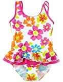 Jxstar Little Girls One Piece Swimsuit Flowers Kids Summer-100