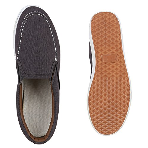 Bequeme Herren Slip-Ons Flache Freizeit Slipper Flats Schuhe Flandell Grau Berkley