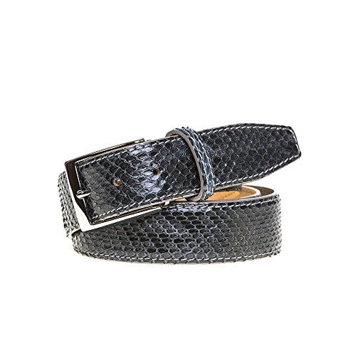Gray Python Leather Belt by Roger Ximenez: Bespoke Maker of Fine Leather Goods