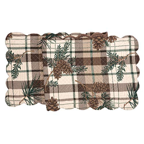 (C&F Home Lookout Lodge Cotton Quilted Table Runner 14 x 51 Runner 14x51 Tan)