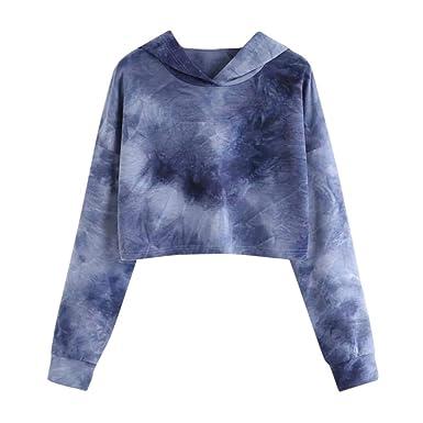 8a4270453537 KIMODO Pullover Damen Langarm Sweatshirts Kapuzenpullover Hoodie  Kapuzenjacke Gedruckt Tops Mode 2019  Amazon.de  Bekleidung