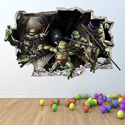 1Stop Graphics Shop Las Tortugas Ninja Adhesivo Pared 3D ...