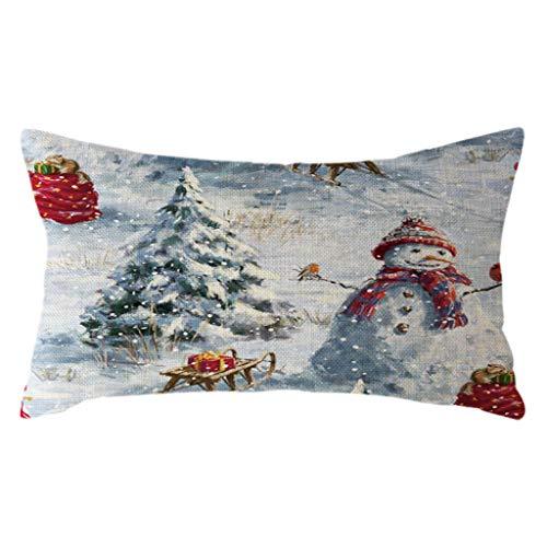Littay The Best Gift Santa Claus Pillow Case Linen 30x50cm Throw Cushion Cover Home Decor 11.81