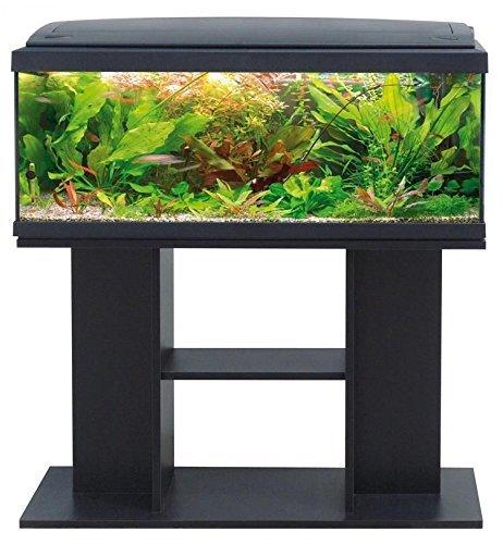 Acquario accessoriato milo 80 nero con mobile di supporto - Acquario mobile ...