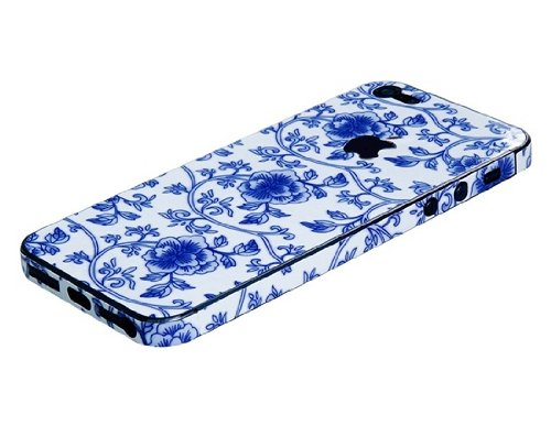 Delivery Time 20-30 Days Floral Print Skin Sticker for iPhone 5 (White)