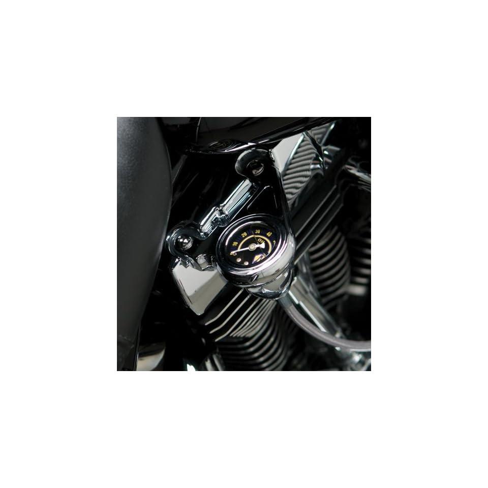 Arlen Ness Radius Complete Black Oil Pressure Gauge Kit for Harley Davidson 199