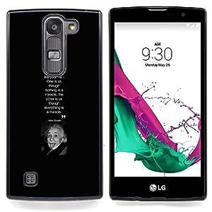 """Cita Albert Einstein Científico Imagen"""" - Metal de aluminio y de plástico duro Caja del teléfono - Negro - LG Magna / G4C / H525N H522Y H520N H502F H500F (G4 MINI,NOT FOR LG G4)"""
