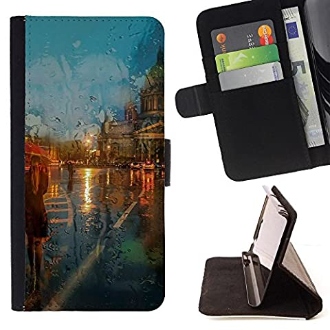 Samsung Galaxy Note 4 IV Colorful Pattern Flip Wallet Leather Holster Protective Skin Case Cover -