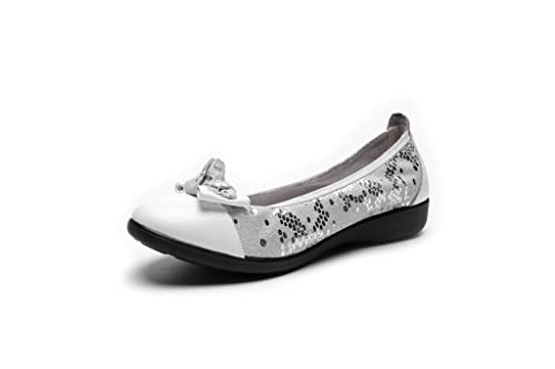 af55622f1cb libre comme l air Women s Leather Ballet Flats Casual Comfort Loafer Shoes  for ...