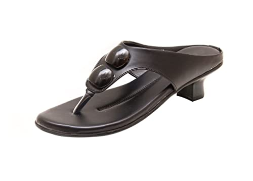 Canvera Women's Black Faux Leather Wedges (331_033) - 7 5 UK