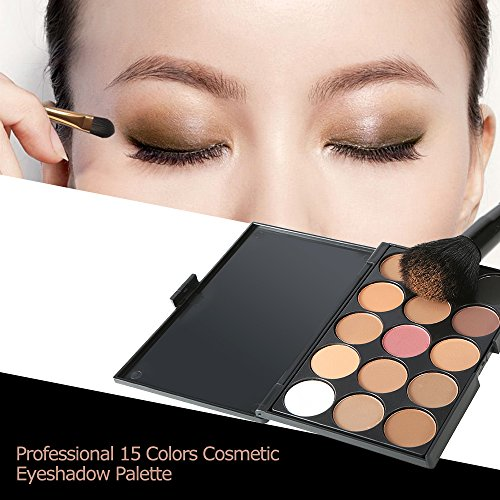 Anself Professional 15 Colors Makeup Warm Eyeshadow Palette