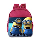Kids Despicable Me 2 Minions School Backpack Cool Baby Boys Girls School Bags Pink