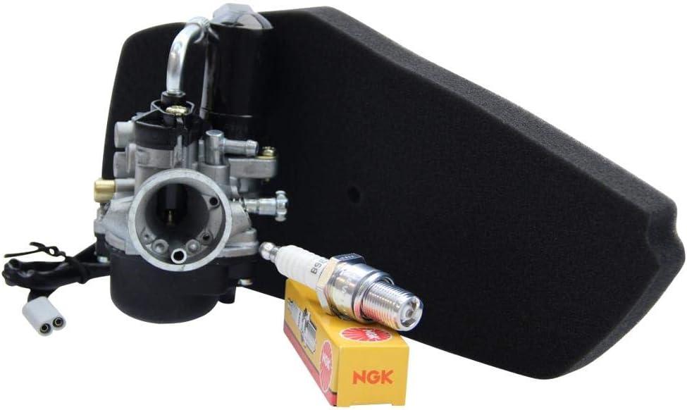 NGK Z/ündkerze B9ES Piaggio Sfera NSL NSL 50 NS8 80 17,5mm Sport Vergaser YSN mit E-Choke von Citomerx Luftfilter