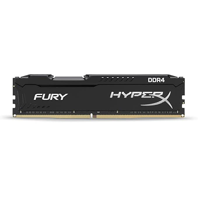 HyperX Fury 2666MHz DDR4 Non-ECC CL15 DIMM 8 GB DDR4 2400 MT/s (PC4-19200) HX426C15FB/8 Memory at amazon