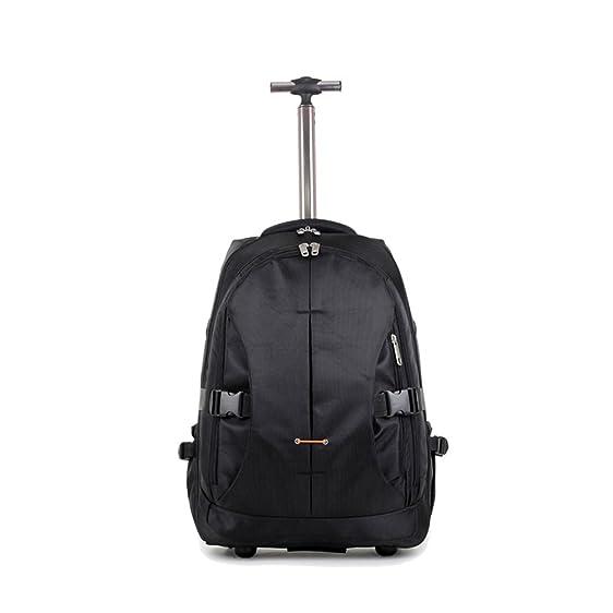 Amazon.com | Trolley backpack for school Clear skate single wheels ...