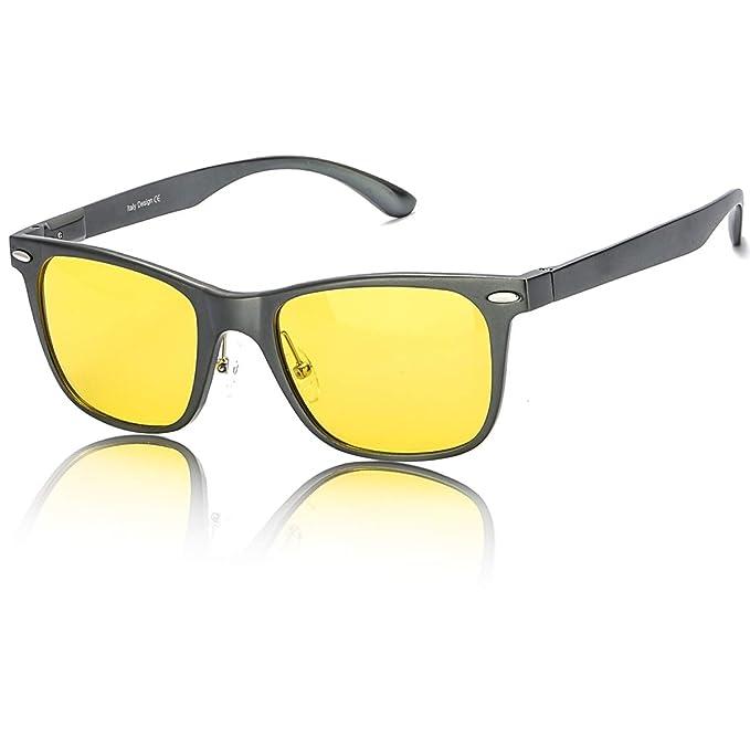 87bfcb9ec8 LVIOE Cuadrado de moda gafas de visión nocturna de bloqueo 100% UV 400 gafas  de