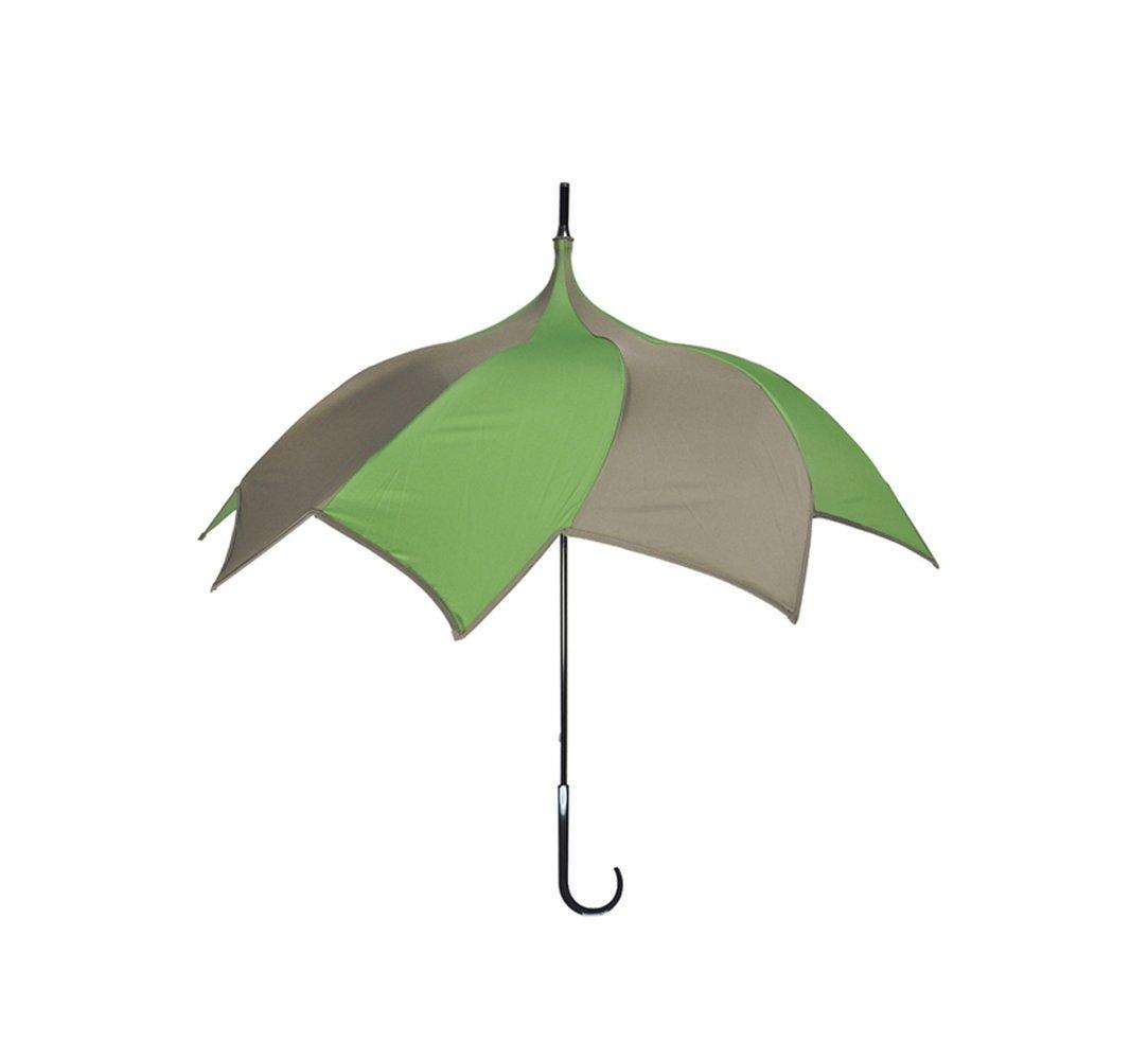 【正規輸入品】 ディチェザレ デザイン スパイラル ウォーカー カラーコンビ 全4色 長傘 手開き 日傘/晴雨兼用 グリーン&ブラウン 10本骨 65cm 大判 グラスファイバー骨 B00T7RFAWK グリーン&ブラウン グリーン&ブラウン