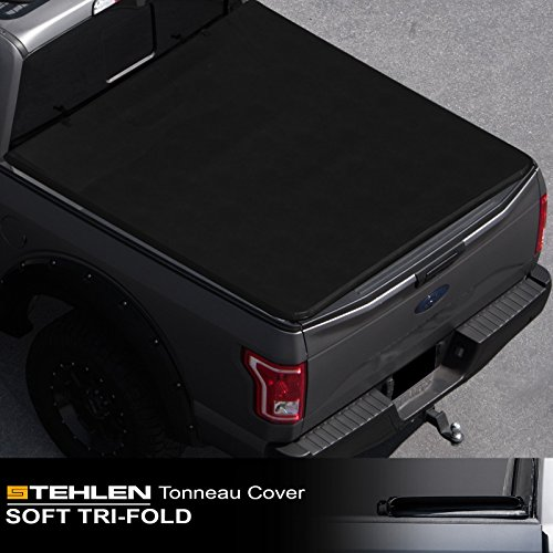 Stehlen 714937189324 Soft Tri-Fold Tonneau Cover - Black - Aries Security Lock Box