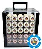 Claysmith Gaming 1000-Count 'Rock & Roll' Poker Chip Set in Acrylic case, 13.5gm
