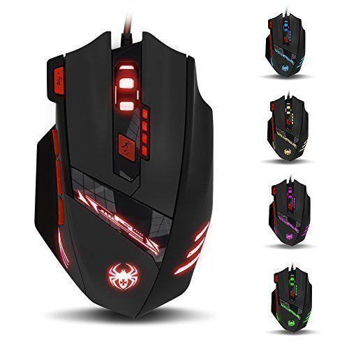 Zelotes THINKTANK T90 9200 DPI 8 Buttons, Wired USB Gaming Mouse, Black by Think Tank