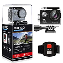 Professional Video QualityAKASO EK7000 features ultra HD 4K video recording. You can capture stunning 4K 25fps/2.7K 30fps/1080P 60fps videowhich is sharper and more lifelike than ever. High-resolution, high frame rate 4K 25fps and 2.7K 30fps ...