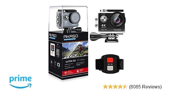 89600b4143e678 Amazon.com   AKASO EK7000 4K WiFi Sports Action Camera Ultra HD Waterproof  DV Camcorder 12MP 170 Degree Wide Angle   Camera   Photo