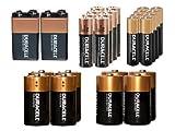 8 AA + 8 AAA + 4 C + 4 D + 2 9 Volt Duracell Coppertop Alkaline Battery Combo