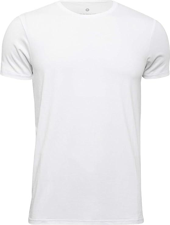 JBS of Denmark - Hombres - Camiseta con Cuello Redondo de Viscosa de bambú - Blanco, Negro o Azul Marino - S a XXL