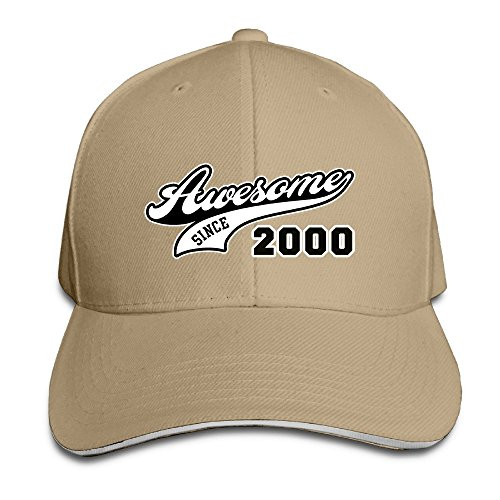 Awesome Since 2000 16th Birthday Gift Adjustable Washed Twill Sandwich Caps Hats (Keeping Up With The Kardashians S12e16 Vodlocker)