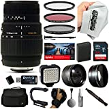 Sigma 70-300mm Lens with 64GB for Canon EOS Rebel T6i and T6s Digital SLR Cameras
