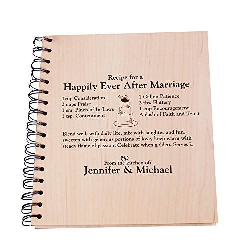 GiftsForYouNow Happily Ever After Engraved Recipe Card Holder by GiftsForYouNow