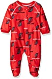NBA Portland Trail Blazers Newborn Sleepwear All Over Print Zip Up Coverall, 6-9 Months, Red