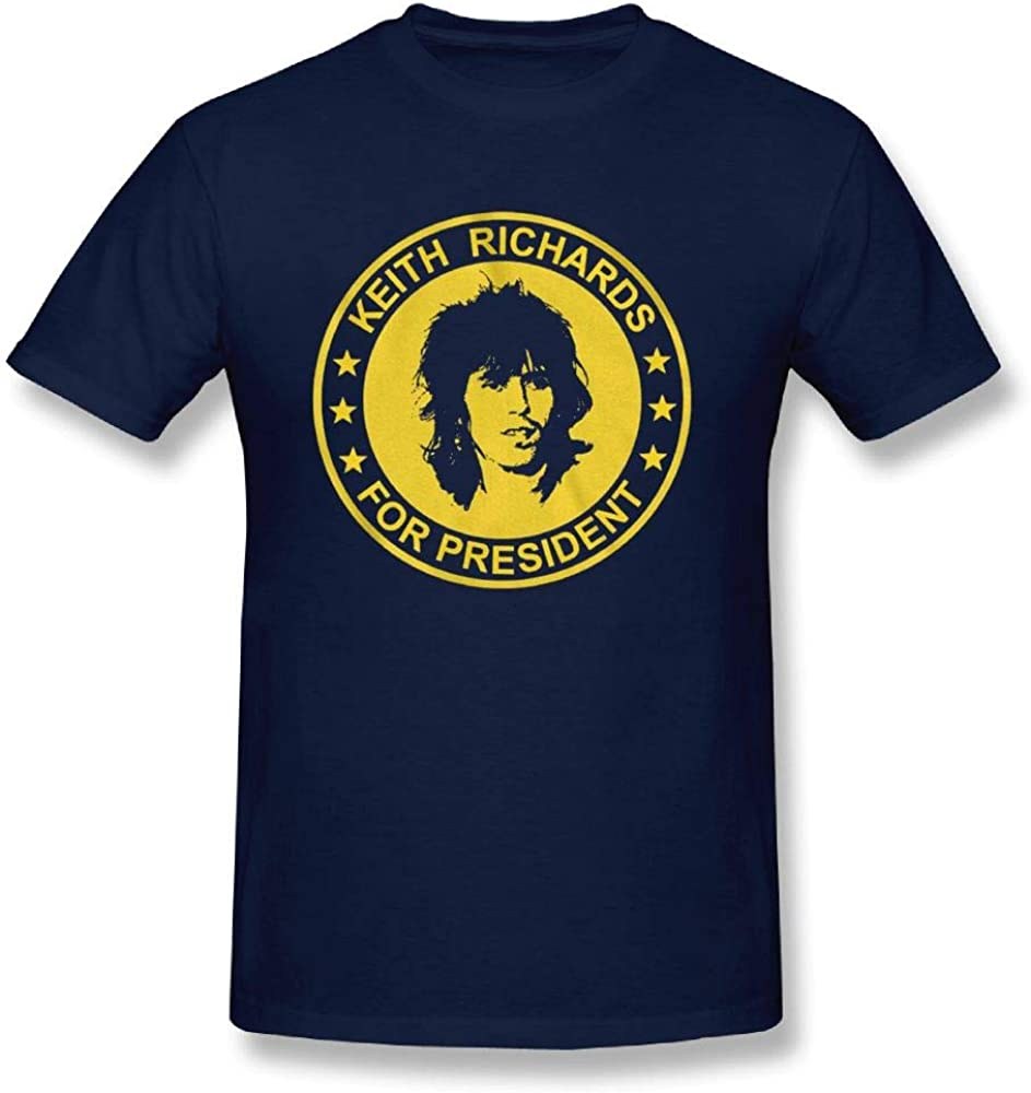 """/""""KEITH RICHARDS FOR PRESIDENT/"""" ROLLING STONES MUSIC WHITE T-SHIRT"""