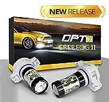 led 5202 fog lights 8000k - OPT7 CREE Series 5202 LED DRL Fog Light Bulbs - 5000k Bright White - Pack of 2