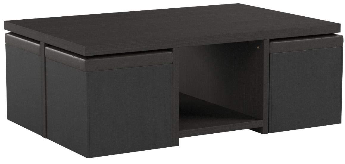 Baxton Studio Prescott 5-Piece Modern Table and Stool Set with Hidden Storage by Baxton Studio