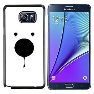 Stuss Case / Funda Carcasa protectora - Oso polar minimalista Blanco Negro lindo - Samsung Galaxy Note 5