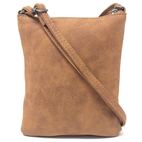 Owl Messenger Side Long Strap Faux Small Leather Purse Bag Crossbody Brown Distressed ZxwEzH8qf