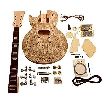gdlp77l para zurdos Hazlo tú mismo Guitarra Eléctrica KITS, estilo MACIZO Caoba Cuerpo Con Spalted Arce Chapa: Amazon.es: Instrumentos musicales